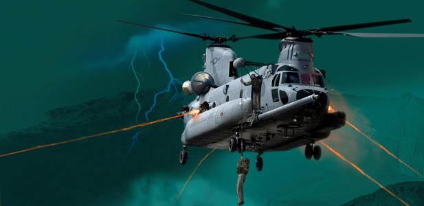 Jak atakuje HH-47 Chinook