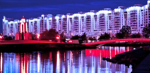 mińskby night