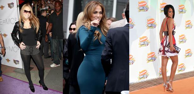 Rihanna, Jennifer Lopez, Mariah Carey,