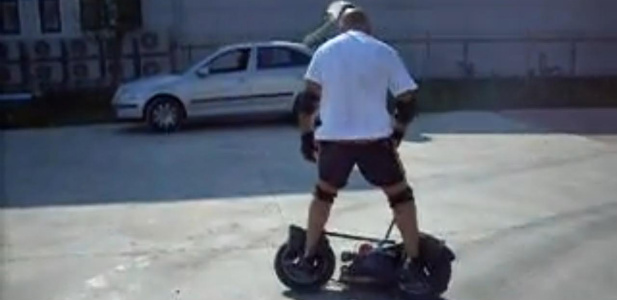 motorized wheel rider