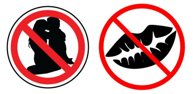 zakaz całowania się
