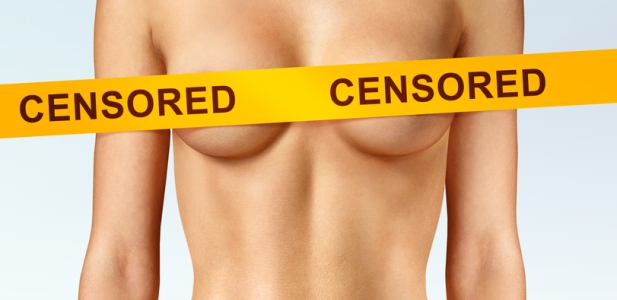biust cenzura