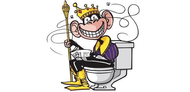 król w toalecie