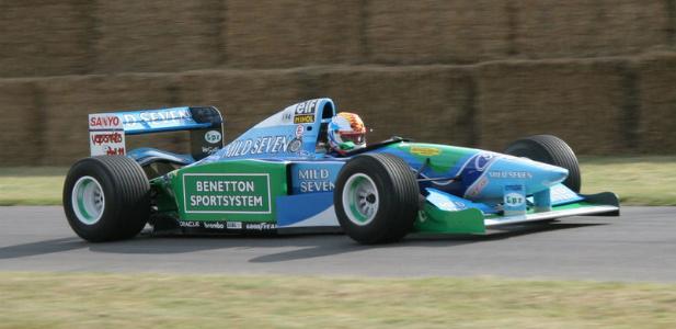 Michael Schumacher w bolidzie Benetton