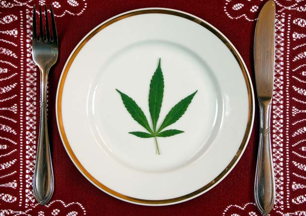 marihuana potrawa