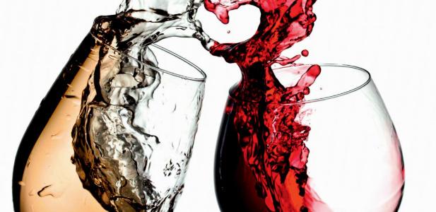 czerwonie i białe wino