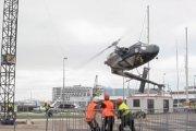 Helikopter runął na beton (WIDEO)