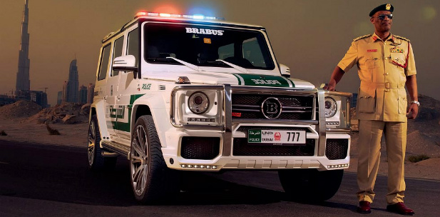 dubajska policja Brabus