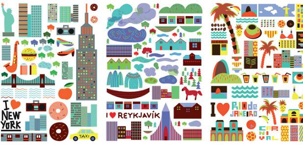 piktogram miasta świata