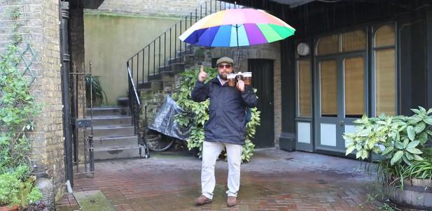 parasolka z uchwtyami