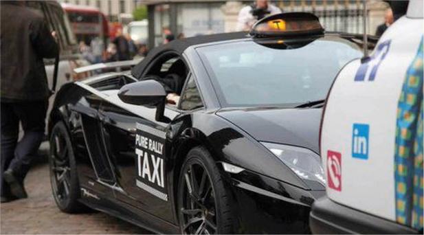lamborghini taksówka w Londynie