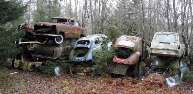 cmentarzysko aut w Szwecji