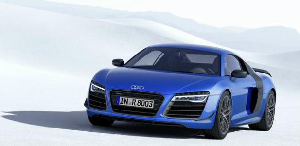 Audi R8 LMX auto z seryjnie montowanymi laserowymi światłami