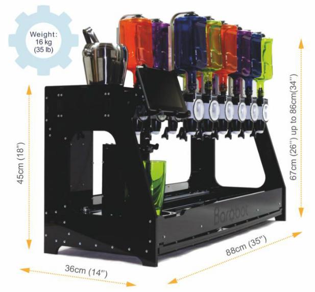 robot robiący drinki