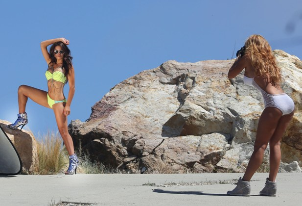 Kourtney Compton i Raquel Rischard
