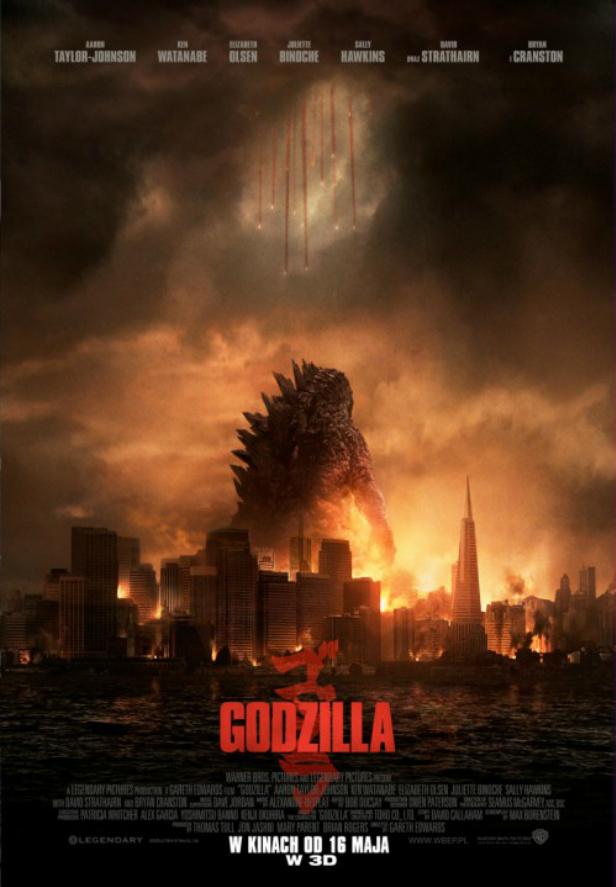 Godzilla 2014 plakat