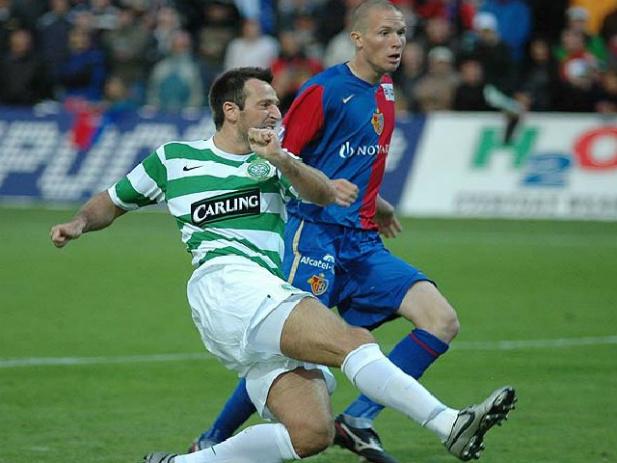 Maciej Żurawski w barwach Celticu Glasgow