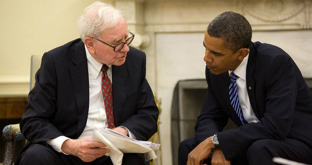 Warren Buffett i Barack Obama