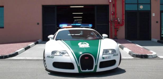 Bugatti w dubajskiej policji