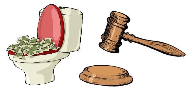 toaleta sąd