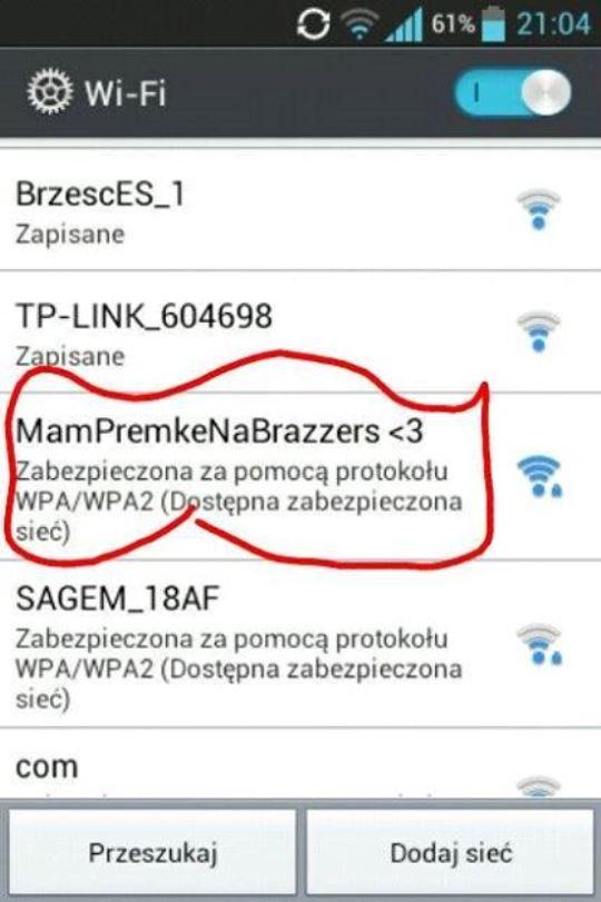 brazzers nazwa wifi