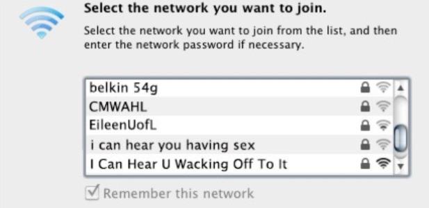 i can hear you having sex śmieszna nazwa sieci