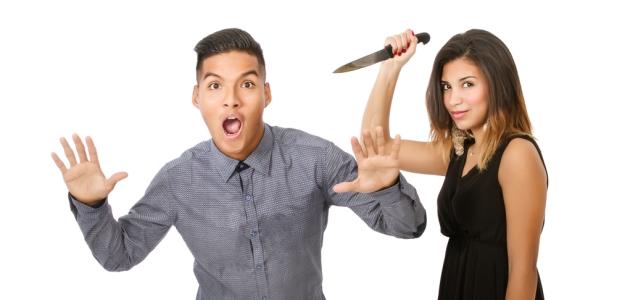 laska z nożem
