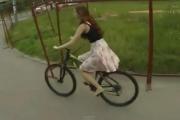 Rowerowa wpadka [wideo]