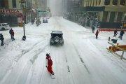 Snowbard na ulicach