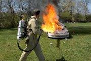 Test miotaczy płomieni