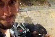 Selfie z nieprzytomnym bandytą