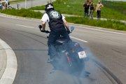 Rekordowe palenie gumy na Harleyu