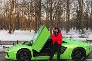 Zielone Lamborghini Kuby Wojewódzkiego wystawione na sprzedaż