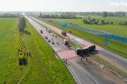 Plama płynnej czekolady zablokowała ruch na autostradzie A2