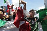 Radość kibiców po golu Meksyku w meczu z Niemcami wywołała małe trzęsienie ziemi