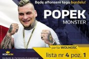 Popek zaprezentował swój pierwszy plakat wyborczy