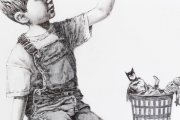 Zobacz nowy mural Banksy'ego. Artysta zostawił wiadomość