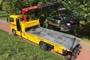 Maserati zgruzowane w Kaliszu. Wypadek za 600 tys. zł
