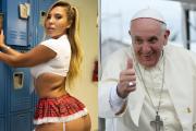 Papież też facet. Franciszek polubił na Instagramie fotkę wyzywającej modelki