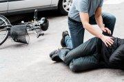 Rowerzysta dwukrotnie przekroczył śmiertelną dawkę alkoholu. Nie czuł bólu