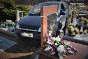 Rajd na cmentarzu. 88-latek przesadził z gazem